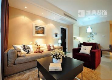 嘉业国际城一室一厅72平装修效果图