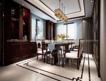 苏州水漾花城四室二厅中式装修效果图