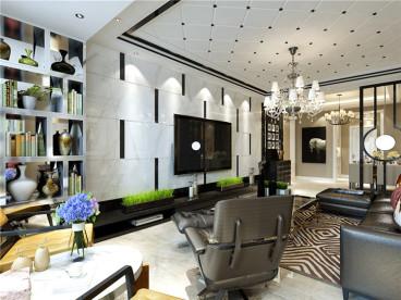 招商贝肯山三室二厅现代简约装修效果图