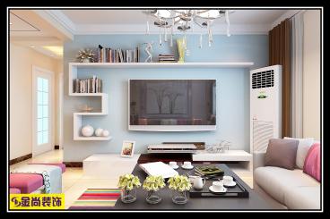 福景佳苑现代简约三室一厅装修效果图