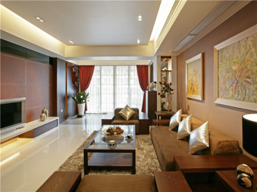 保利香槟国际三室二厅半包装修效果图
