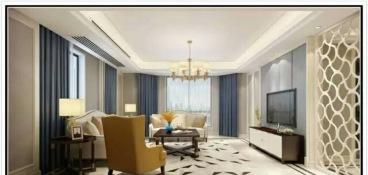 建礼家园全包三室二厅装修效果图
