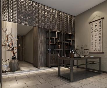 湘湖人家书会馆210平新中式装修效果图