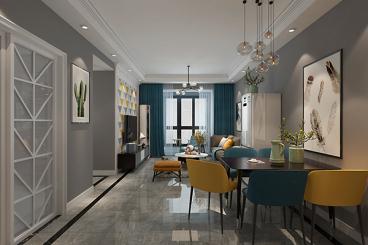 绿都澜湾三室二厅98平装修效果图