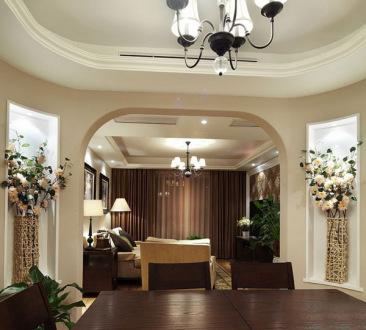 格兰绿都简欧三室二厅装修效果图