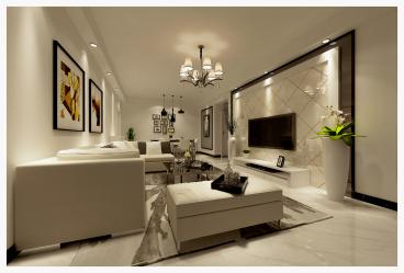 玫瑰名城三室二厅现代简约装修效果图