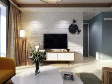 如园三室二厅105平装修效果图
