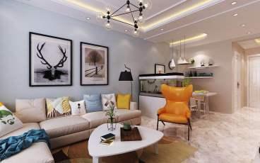 信达东湾半岛第三区四区北欧二室一厅装修效