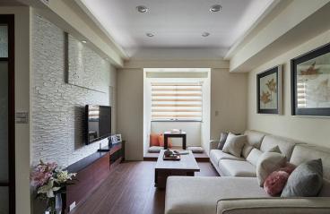 金世旗楠苑现代简约三室二厅装修效果图