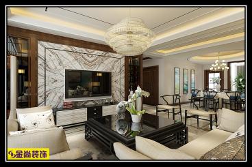 凤凰国际新中式五室二厅装修效果图