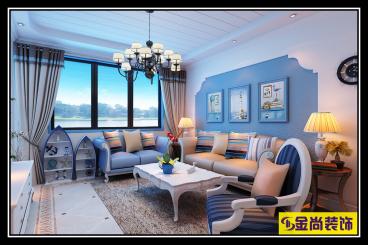 国华新经典三室一厅简欧装修效果图