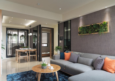 海西轻公寓现代简约66平装修效果图