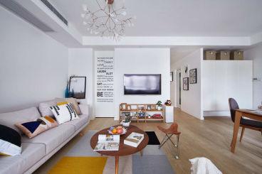 金地檀境二室一厅89平装修效果图