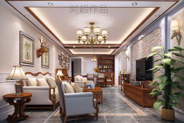 深圳布吉景园全包美式装修效果图