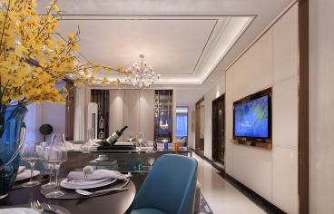 龙湖金楠天街三室二厅后现代装修效果图