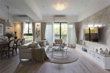 保利梧桐语美式一室一厅装修效果图