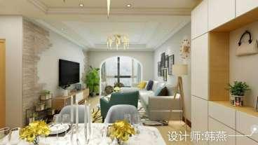 未来城85平三室二厅装修效果图