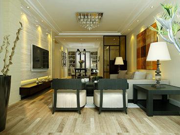 汇泉西悦城三室二厅现代简约装修效果图