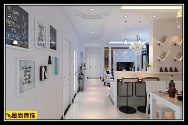 华夏福地现代简约二室一厅装修效果图