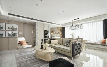 马台街住宅时尚混搭二室一厅装修效果图