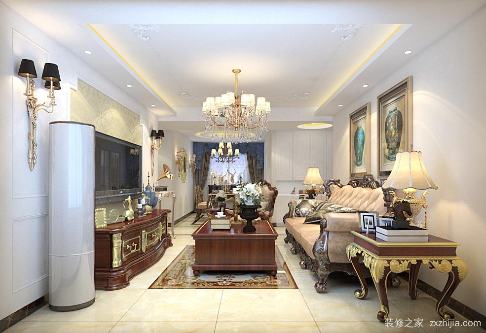 财富一号三室二厅135平装修效果图