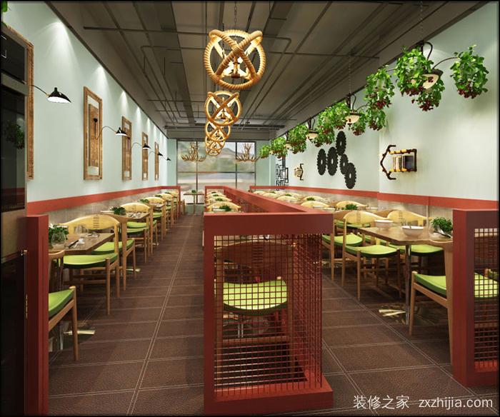 工业风餐饮效果图图片