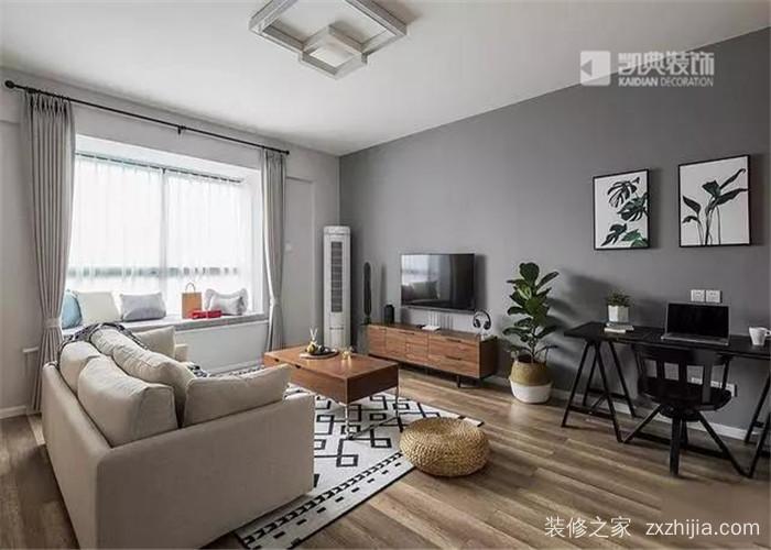 2室2厅2卫 面积:89㎡ 楼盘:天华硅谷庄园 风格:北欧 报价:6~8万 设计图片