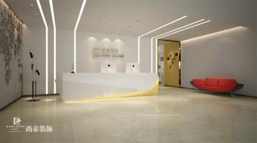 中设广场办公室2300平半包装修效果图