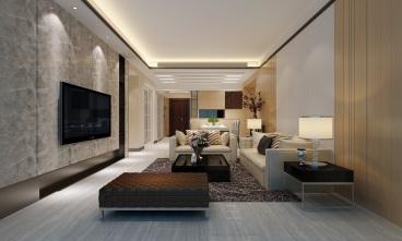 仁山智水全包三室二厅装修效果图