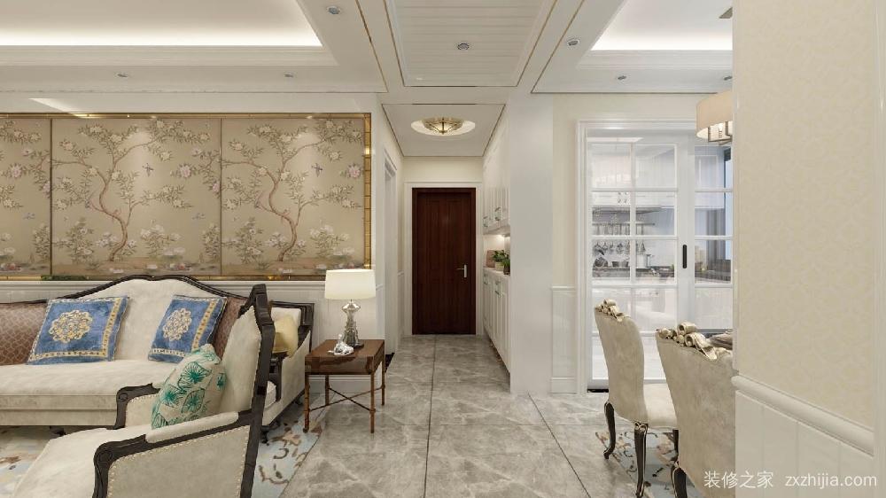 锦上苑7栋01全包欧式古典装修效果图 设计师:孙艺芳 户型:3室2厅2卫