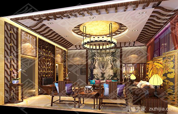 古典欧式的外观与传统中式的室内装修中西合璧,相得益彰.
