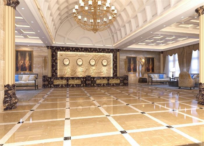 酒店大厅欧式古典装修效果图