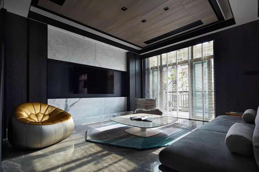 黑白灰装修现代简约客厅效果图