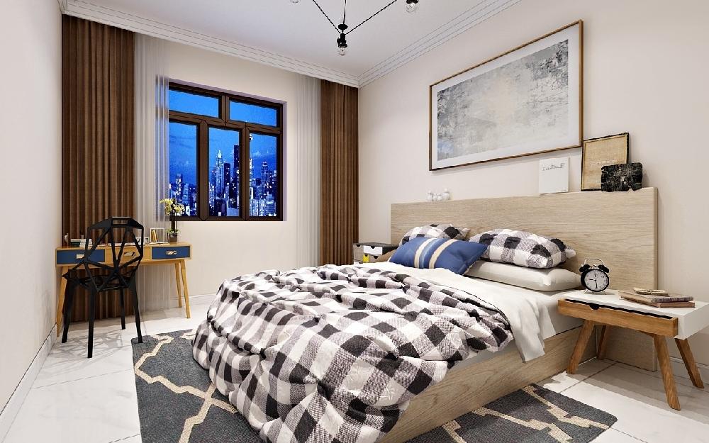 华远水木清华宜家卧室效果图