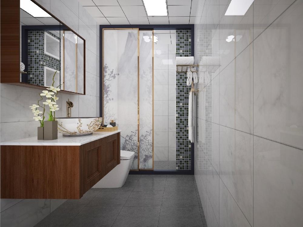 厨房 | 彩虹城a区新中式厨房效果图        户  型:3室1厅1卫 装修