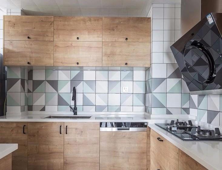 朗琴园北欧厨房效果图