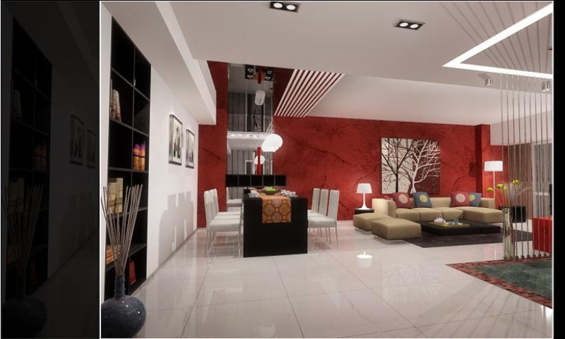 現代中式紅色_裝修之家裝修效果圖
