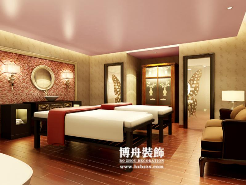 新中式足浴包间设计