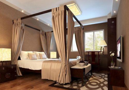 新中式卧室图片欣赏
