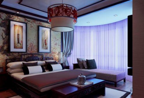 东南亚卧室吊顶图片