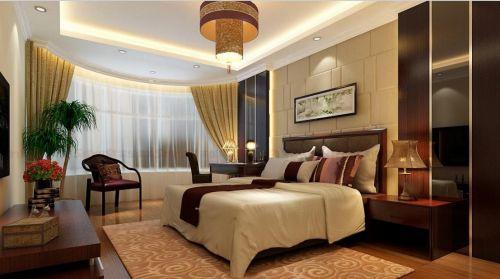 新中式卧室装潢设计效果图