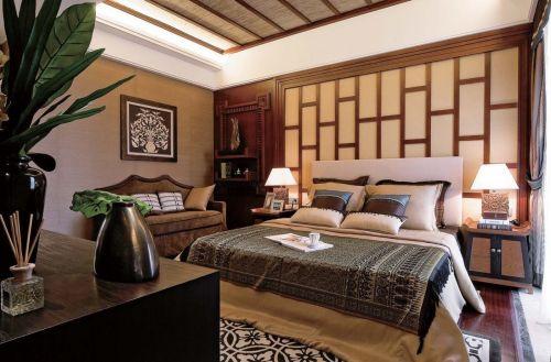 东南亚卧室背景墙图片