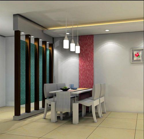 现代都市家居餐厅软装饰