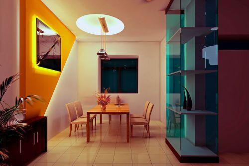 现代中式设计餐厅参考图