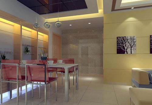 现代公寓室内餐厅设计效果图片