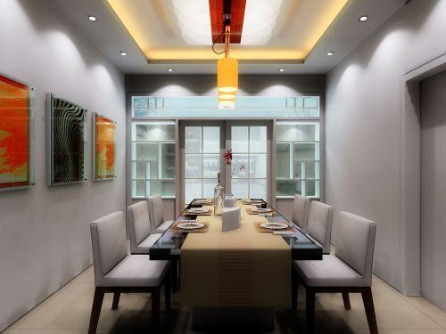现代家庭餐厅装饰效果图欣赏