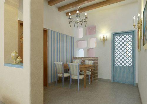 地中海风格小餐厅设计效果图