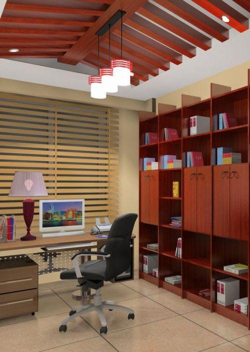 高端大气的书房设计
