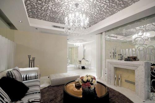 欧式古典客厅吊顶设计