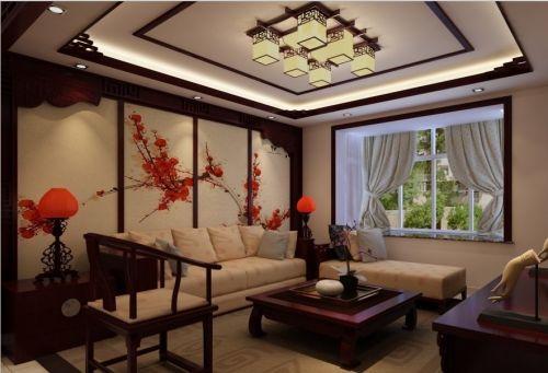 新中式客厅背景墙设计